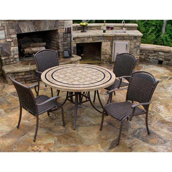 Shop Marquesas 5-piece Dining Set - Overstock - 9232128 on Safavieh Outdoor Living Horus Dining Set id=43634
