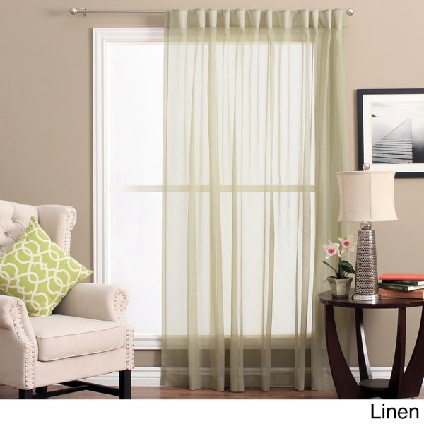 Lucerne Wanda Pleat Back Tab Patio Curtain Panel Free