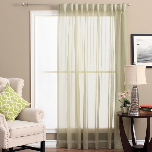 Lucerne Wanda Pleat Back Tab Patio Curtain Panel   104 X 84