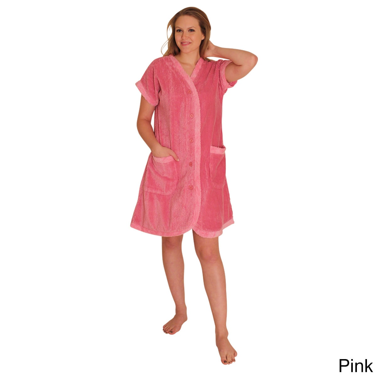 NDK New York Women's Chenille Robe (3XL, Pink), Size 3X (...