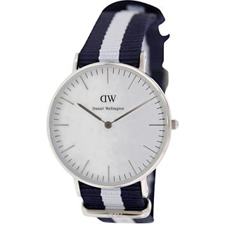 Daniel Wellington Women's 'Glasgow' Blue Nylon Quartz Watch