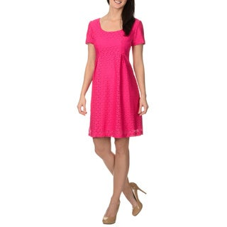 Rabbit Rabbit Rabbit Designs Women's Circle Lace Pleated Dress