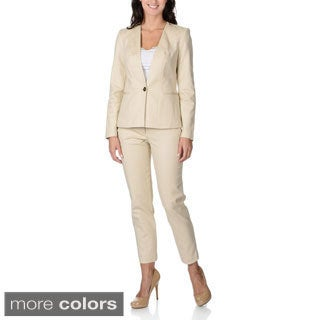 Shop Zac Amp Rachel Women S Stretch Collarless Pant Suit