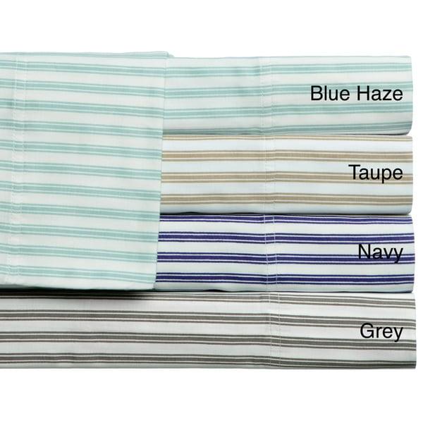 Plantation Stripe 300 Thread Count Sheet Set