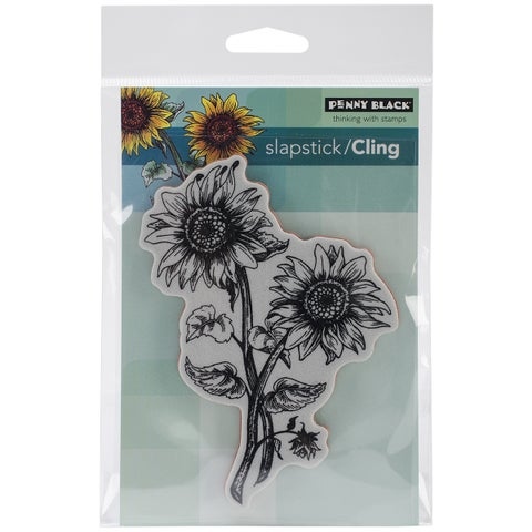 Penny Black Cling Rubber Stamp 4inX6in Sheet-Sunny Pair