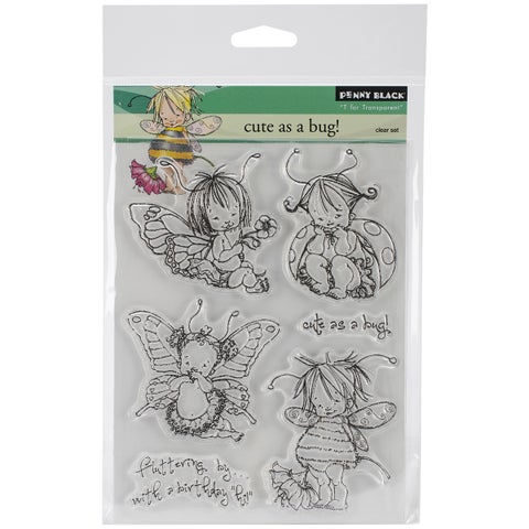 Penny Black Clear Stamps 5inX7.5in Sheet-Cute As A Bug!