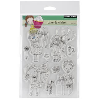 Penny Black Clear Stamps 5inX7.5in Sheet-Cake & Wishes|https://ak1.ostkcdn.com/images/products/9233364/P16400312.jpg?impolicy=medium