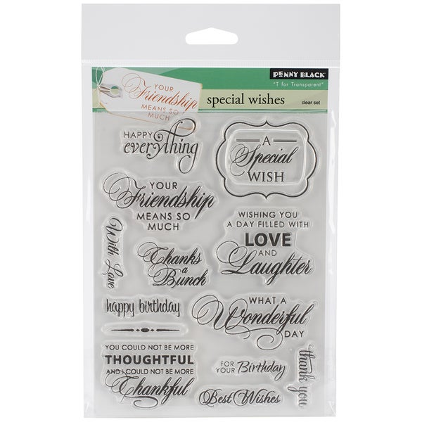 Penny Black Clear Stamps 5inX6.5in Sheet -Special Wishes