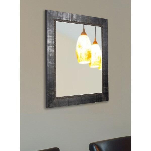 American Made Rayne Italian Ebony Vanity Wall Mirror - Antique Black, Black, Dark Ebony