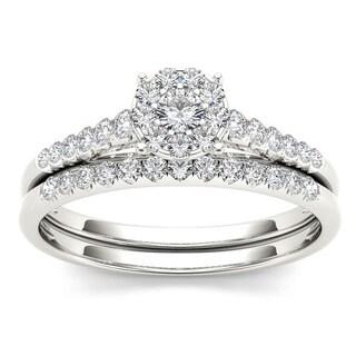 De Couer 10k Gold 1/2ct TDW Diamond Wedding Bridal Set