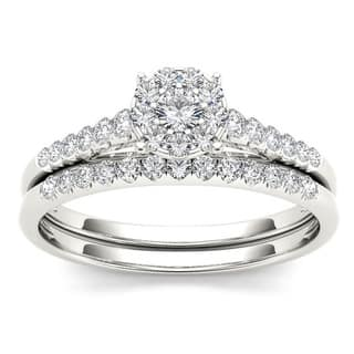 De Couer 10k Gold 1 2ct TDW Diamond Wedding Bridal Set
