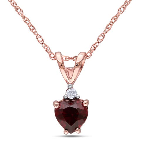 3a430f6249118 Buy Garnet Gemstone Necklaces Online at Overstock   Our Best ...