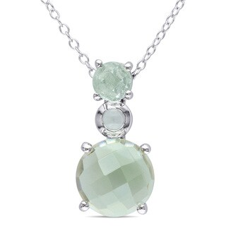 Miadora Sterling Silver Green Amethyst Necklace