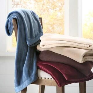 Madison Park Micro Velour Plush Throw Blanket
