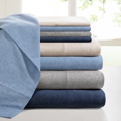 Carbon Loft Porta Cotton Jersey Knit Deep Pocket Heathered Sheet Set