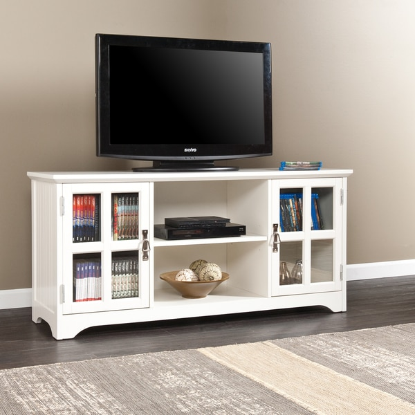 Harper blvd easton white media stand free shipping today White tv console