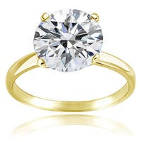 Icz Stonez Platinum Plated Sterling Silver 3ct TGW 100 Facets Cubic Zirconia Engagement Ring