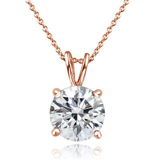 Icz Stonez Platinum Plated Sterling Silver 2ct TGW 100 Facets Cubic Zirconia Necklace (Option: Gold Plate)