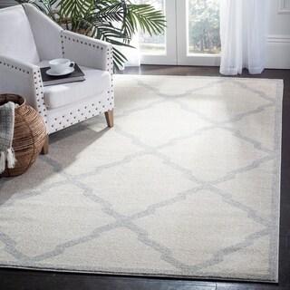 Safavieh Indoor/ Outdoor Amherst Beige/ Light Grey Rug (5x8)