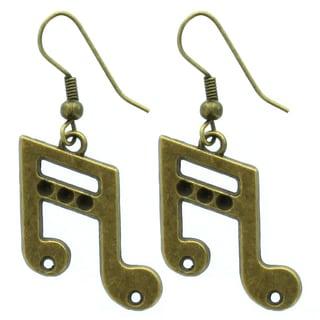 Kate Marie Musical Note Dangle Earrings