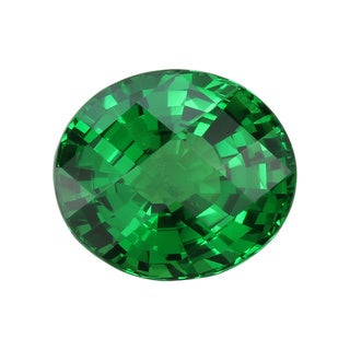 Oval-cut 8.8x10.2mm 4 1/6ct TGW Tsavorite