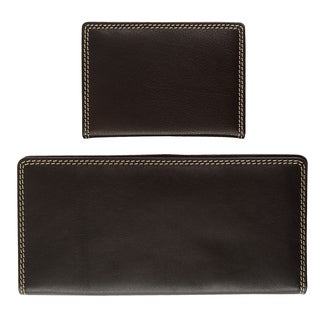 Bugatti His and Hers 2-piece Nappa Leather Wallet Gift Set