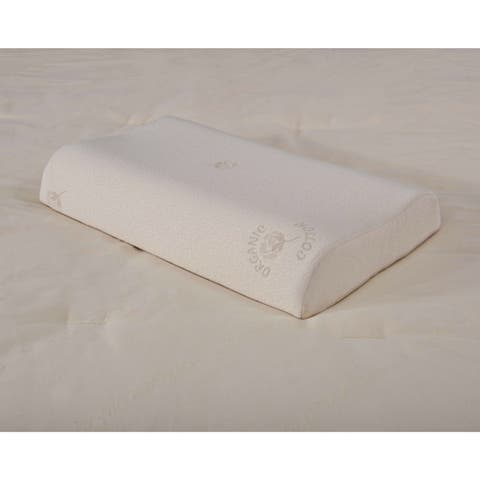 Organic Cotton Hypoallergenic Contouring Latex Foam Pillow
