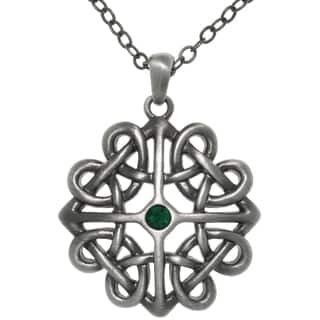 Pewter Crystal Rhinestone Celtic Heart Knot Pendant Necklace https://ak1.ostkcdn.com/images/products/9234109/P16402523.jpg?impolicy=medium