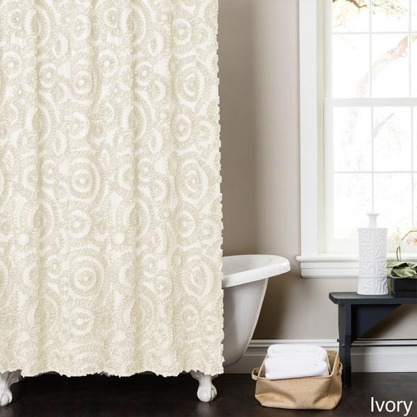 Lush Decor Stella Shower Curtain
