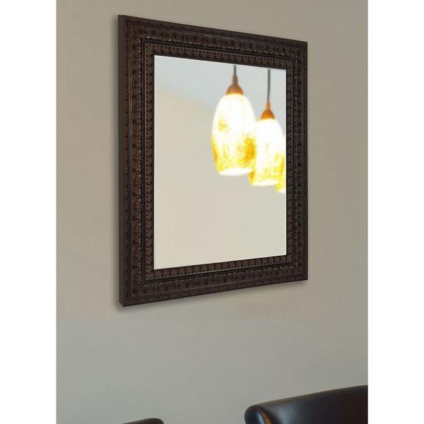 American Made Rayne Classic Baroque Vanity Wall Mirror - Dark Mahogany