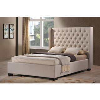 LuXeo Newport Wingback Tufted Contemporary Upholstered Palazzo Mist Bed