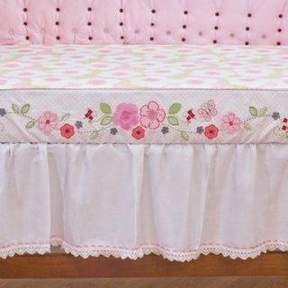 Nurture Imagination Pink Eyelet Dust Ruffle