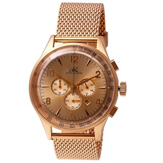 Adee Kaye Men's Mondo G-3 Collection Rose Goldtone Chronograph Watch