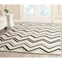 Safavieh Handmade Moroccan Cambridge Ivory/ Black Wool Rug (8' x 10')