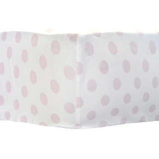 My Baby Sam Pink Polka Dot Crib Sheet
