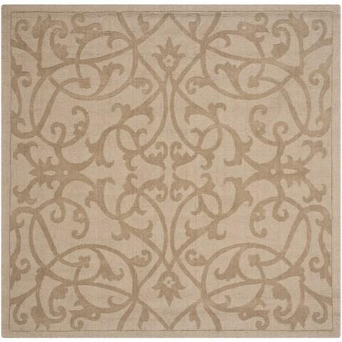 Safavieh Handmade Impressions Light Brown Wool Rug - 6' x 6' Square