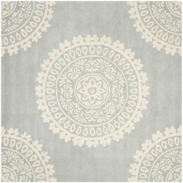 Safavieh Handmade Bella Grey Ivory Wool Rug 7 Square