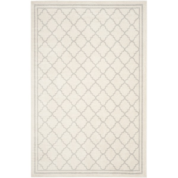 Safavieh Indoor/ Outdoor Amherst Beige/ Light Grey Rug (10' x 14')
