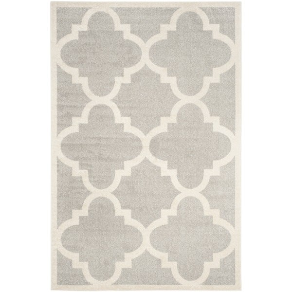Safavieh Indoor/ Outdoor Amherst Light Grey/ Beige Rug - 10' x 14'