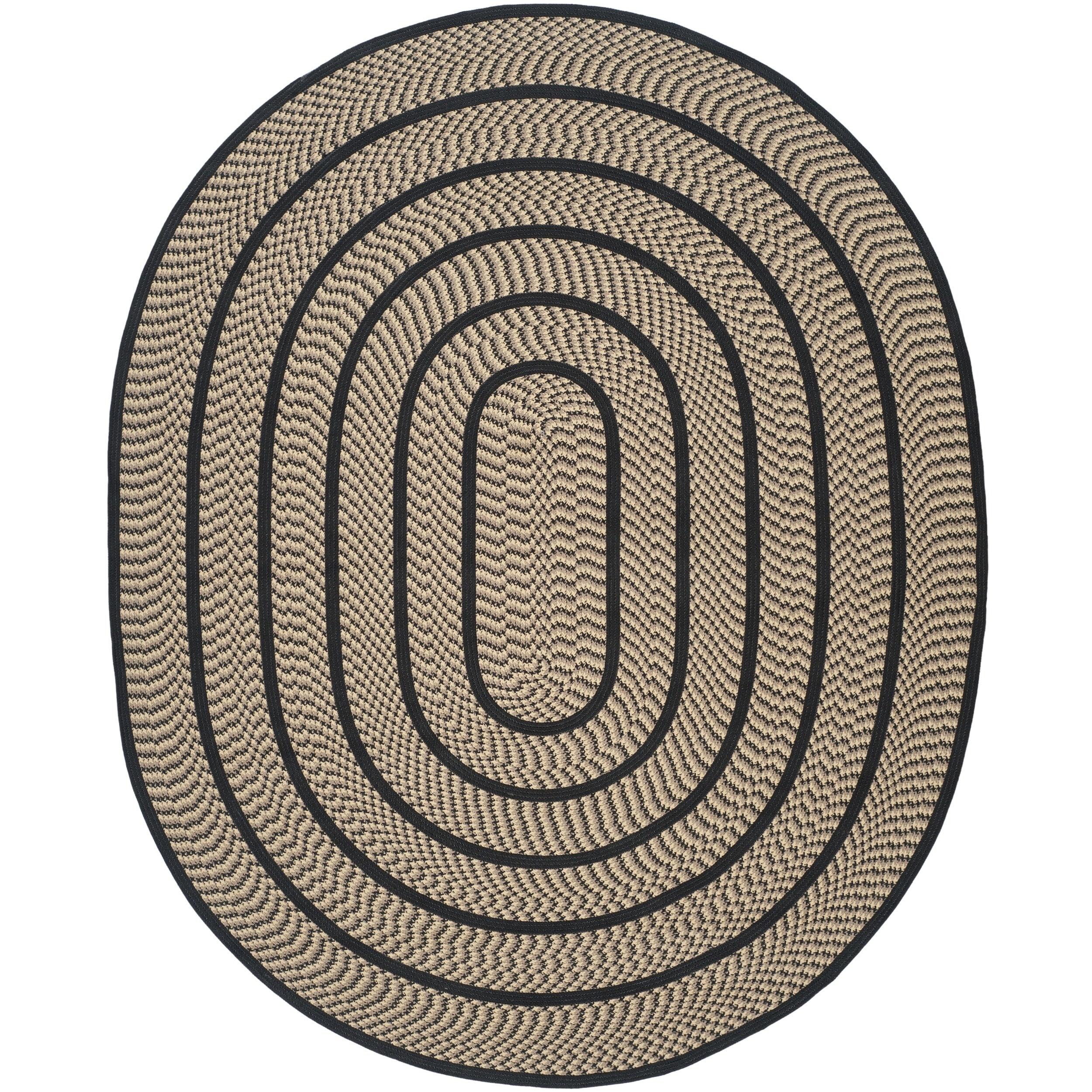 Safavieh Hand-woven Reversible Braided Beige/ Black Rug (...