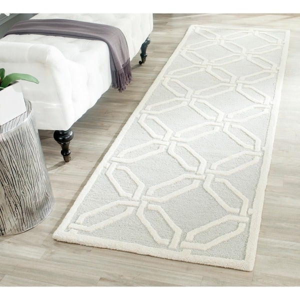 Safavieh Handmade Moroccan Cambridge Light Grey Ivory