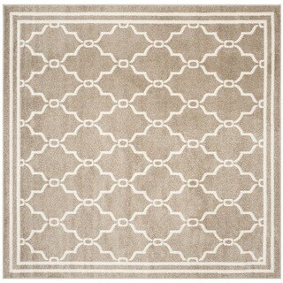 Safavieh Indoor/ Outdoor Amherst Wheat/ Beige Rug (7' Square)