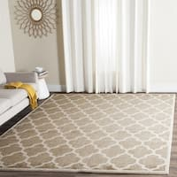 Safavieh Indoor/ Outdoor Amherst Wheat/ Beige Rug - 7' Square