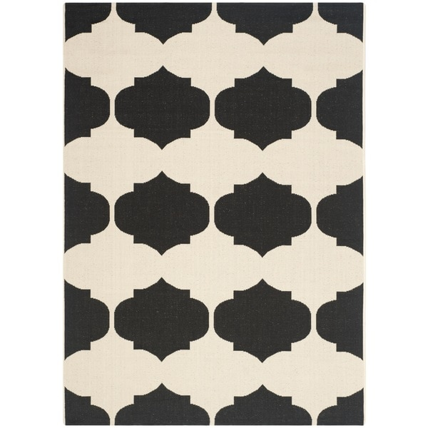 Safavieh Courtyard Poolside Beige/ Black Indoor/ Outdoor Rug - 8' x 11'