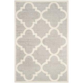 Safavieh Indoor/ Outdoor Amherst Light Grey/ Beige Rug (9' x 12')