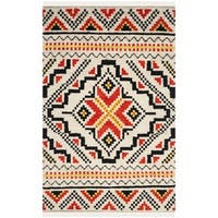 Safavieh Hand-woven Kenya Multicolored Wool Rug - Red - 9' x 12'