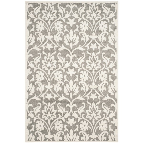 Shop Safavieh Indoor/ Outdoor Amherst Dark Grey/ Beige Rug