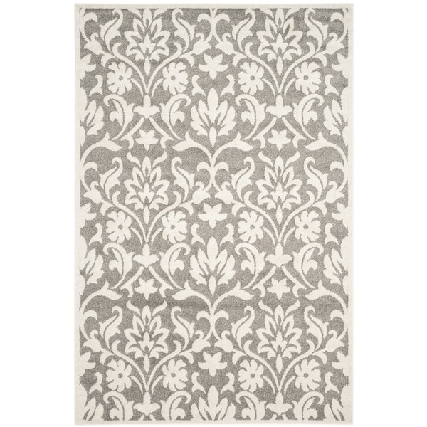Safavieh Indoor Outdoor Amherst Dark Grey Beige Rug 9