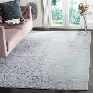 Safavieh Hand-knotted Tibetan Vintage Beige/ Purple Wool/ Viscose Rug (9' x 12')|https://ak1.ostkcdn.com/images/products/9234392/P16402622.jpg?impolicy=medium