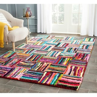 Safavieh Handmade Nantucket Modern Abstract Multicolored Cotton Rug (5' x 8')